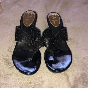 Cole Haan Black wedge sandals